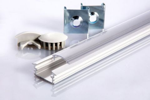 Aluminium Profile for LED Strips - 1 meter - 21mm wide
